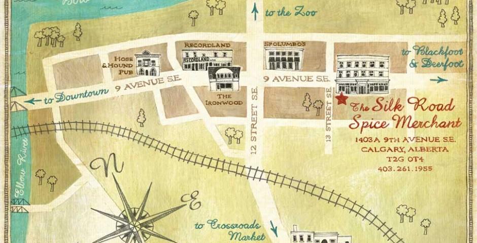 The Silk Road Spice Merchant map