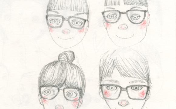 Sketchbook Tuesday – 4 versions of Lia