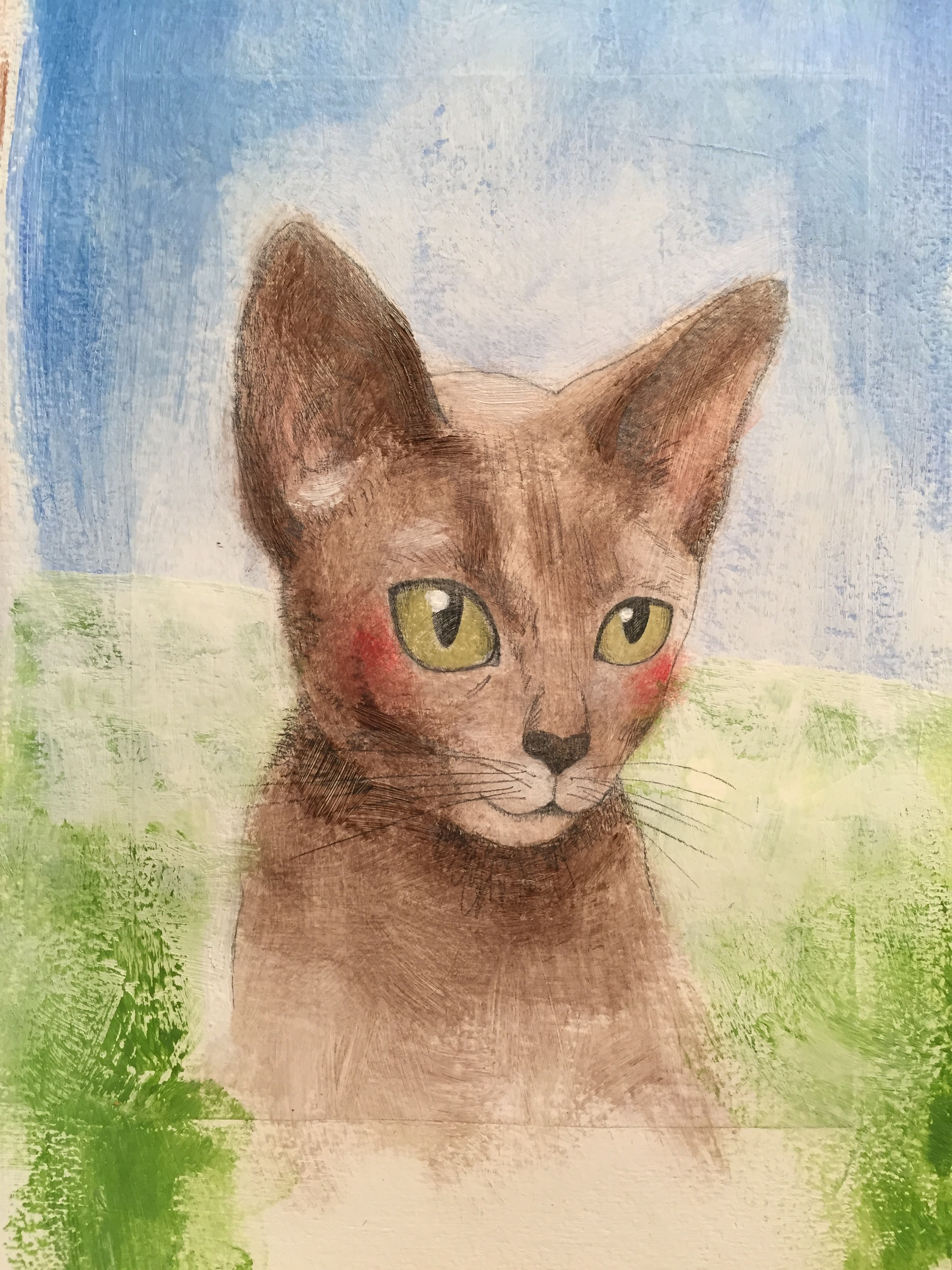 Cat-progress-painting