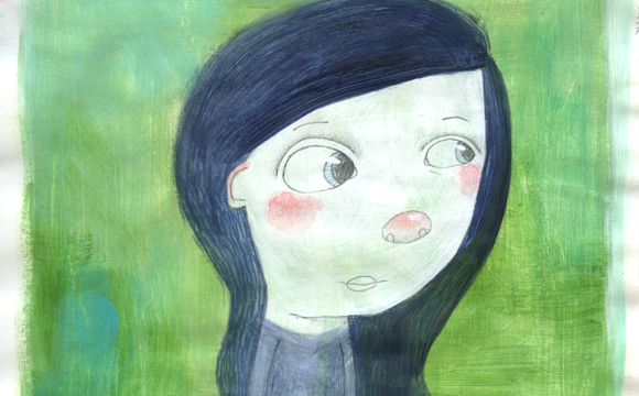 Sketchbook Tuesday – Blue Haired Girl