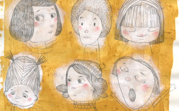 Sketchbook Tuesday: More Assorted Faces