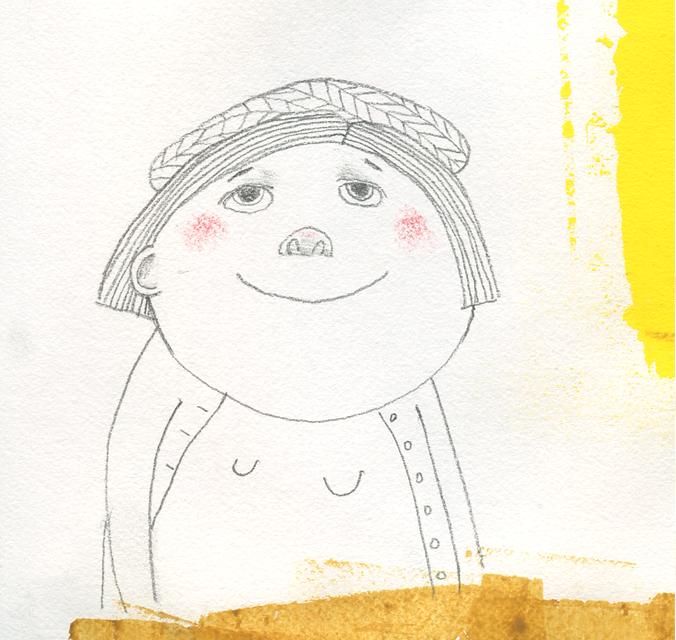 Sketch-girl-in-berret