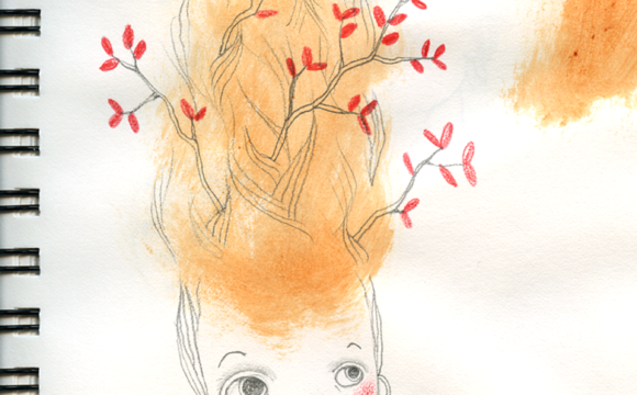 Sketchbook Tuesday: Updo with Branches