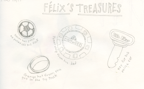 Sketchbook Tuesday: Félix's Treasures