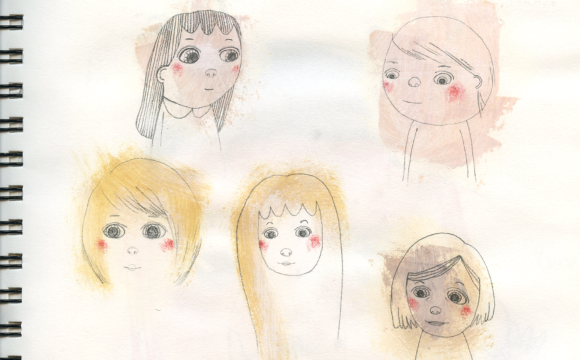 Sketchbook Tuesday: More hair experiments