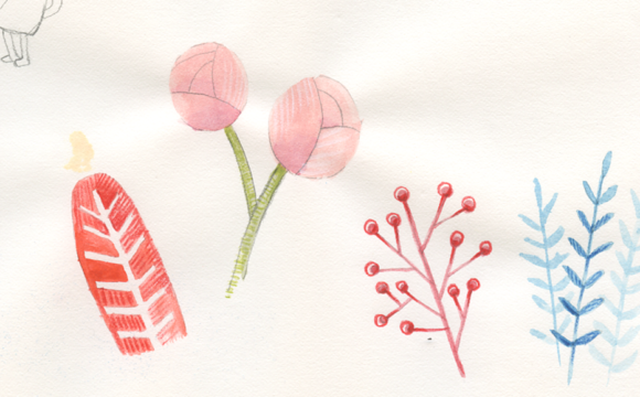 Sketchbook Tuesday: Flowers and Foliage