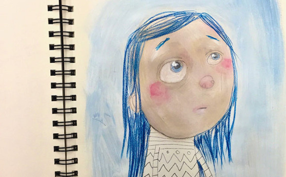 Sketchbook Tuesday: Girl with Blue Hair Demo
