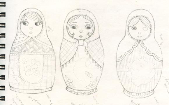 Matryoshka Sketches