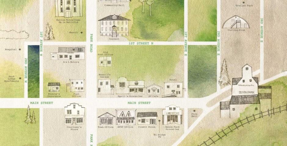 Map of Zenon Park, Saskatchewan